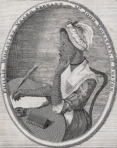 Frontispiece to Phillis Wheatley's Poems on Various Subjects - 1773