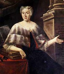 Portrait of Italian mathematician and physicist Laura Bassi (1711-1778) by Carlo Vandi (18th century)