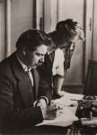 Albert et Helene Correcting Manuscripts together